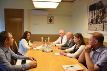 Miesto vadovai susitiko su Seimo nare G. Burokiene