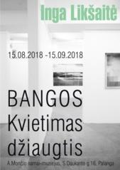 """A. Mončio namuose-muziejuje – Ingos Likšaitės meno paroda """"Bangos. Kvietimas džiaugtis"""""""