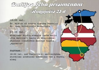 Ateinantį ketvirtadienį minėsime Baltijos kelio įvykius
