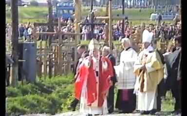 Popiežius Kryžių kalne 1993m.