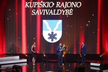 """""""Auksinės krivūlės 2018"""" apdovanojimas įteiktas Kupiškio rajono savivaldybei"""