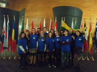 Vilniaus r. Nemėžio šv. Rapolo Kalinausko gimnazijos komanda atstovavo Lietuvai Euroscolos renginyje Strasbūre