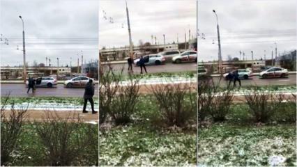 Rytas Vilniuje: susimušė taksistas ir vairuotojas (vaizdo įrašas)