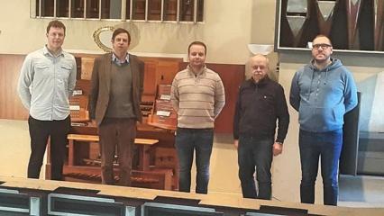 Naujieji Šv. Jono Krikštytojo bažnyčios vargonai ruošiami kelionei į Pasvalį