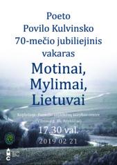 Jubiliejinis poeto Povilo Kulvinsko vakaras