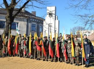Joniškyje paminėta Lietuvos valstybės atkūrimo diena