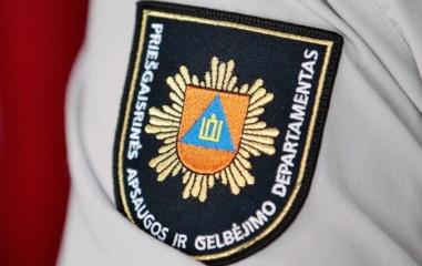 Ugniagesiai gelbėtojai išsiuntė pranešimą dėl eismo sustabdymo Baltarusijos pasienyje