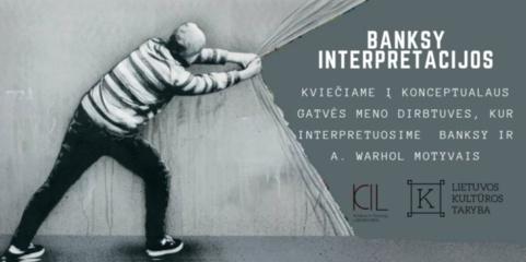 """Kelmės jaunimo centre projektas """"Banksy interpretacijos"""""""