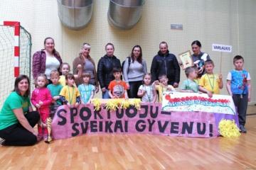 Gimnazijos sporto salėje – jau dešimtosios mažųjų žaidynės