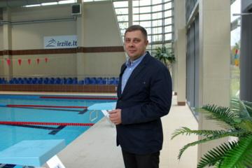 """Vitalijus Jocys: """"Labai skubėjome atidaryti, todėl visas baseinas nebuvo išbandytas"""""""