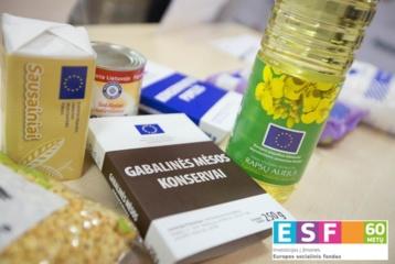 Maisto produktų iš Europos pagalbos labiausiai skurstantiems asmenims fondo dalinimas
