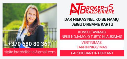Nekilnojamo turto brokerė Sigita Brazdeikienė