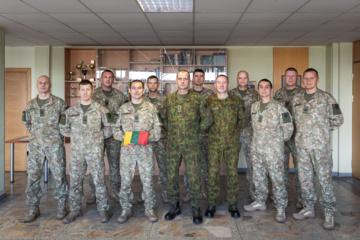 Lietuvos kariai išlydėti į Ukrainą