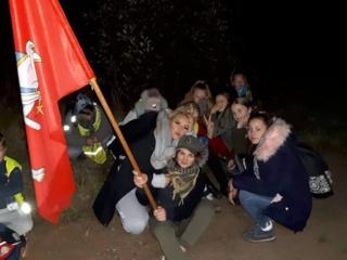 Jaunimui organizuotas naktinis pėsčiųjų žygis