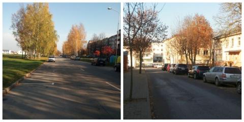 Sužymėtos automobilių stovėjimo vietos J. Ambrazevičiaus-Brazaičio ir Vasario 16-osios gatvėse