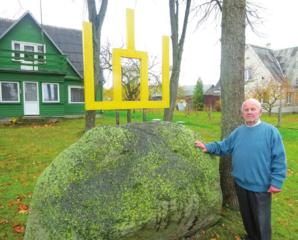 Neprėkštos kaimo sodyboje – Gedimino stulpai partizanų atminimui