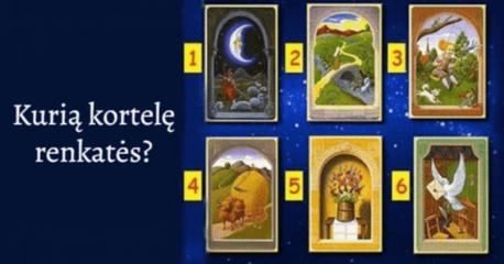 Pasirinkite ypatingą kortelę ir sužinokite, kas laukia artimoje ateityje