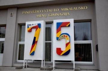 Panevėžio V. Mikalausko menų gimnazijai – 75-eri