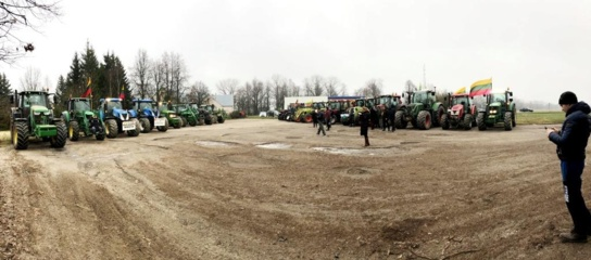 Širvintų rajono ūkininkai parodė solidarumą