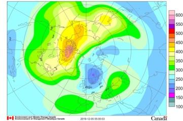 Virš Lietuvos teritorijos sumažėjo bendrasis ozono kiekis