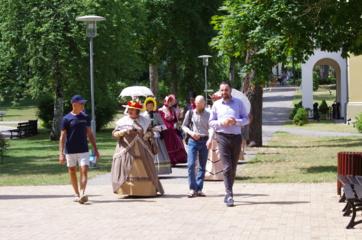 Tokio gausus turistų antplūdžio Druskininkai dar nebuvo matę
