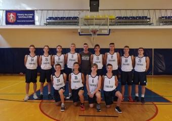 Gera metų pradžia jauniesiems Trakų krepšininkams