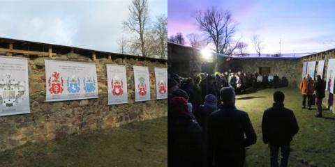 Pandėlio parke nušvito heraldikos ekspozicija