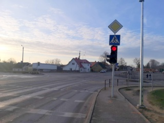 Jurbarko mieste grįš tik viena žalia rodyklė