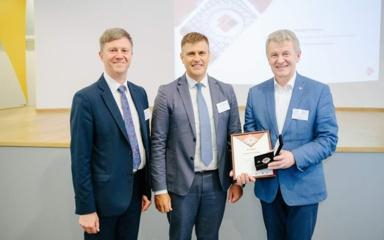 Lietuvos inžinerinės pramonės asociacijos LINPRA garbės ženklu apdovanotas dr. Vytautas Petkūnas