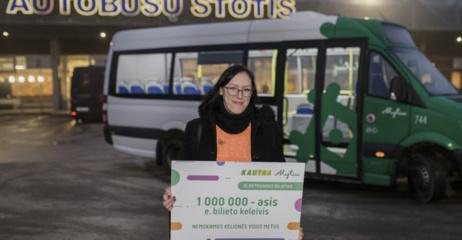 Milijoninei elektroninio bilieto keleivei – nemokamos kelionės