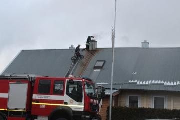 Jurbarko mieste, pagrindinėje gatvėje, kilo gaisras