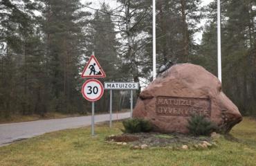 Dėl eismo apribojimo Matuizų kaimo Statybininkų gatvėje