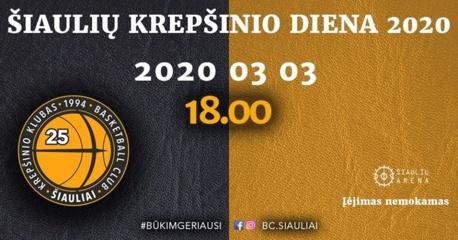 """Arenoje – """"Šiaulių krepšinio diena 2020"""""""
