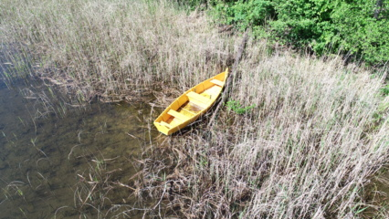 Alytaus rajone Obelijos ežere rasta dingusi valtis