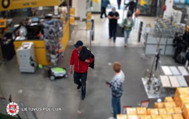 Panevėžyje ieškomas iš parduotuvės perforatorių pavogęs vyras