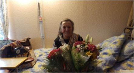 Pasveikinta šimtametė Molėtų rajono gyventoja