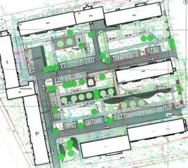 Miesto kvartalo projekto pristatyme – galvosūkis dėl vieno įvažiavimo