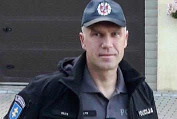 Padėka Utenos policijos pareigūnui