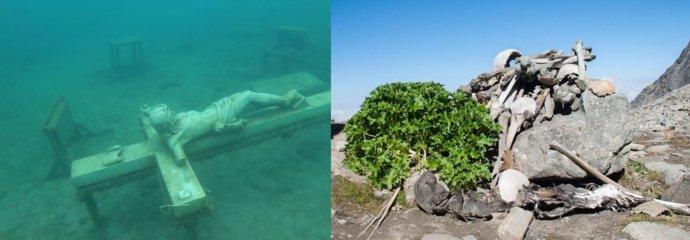 Keisti ir šiurpūs radiniai ežerų dugne
