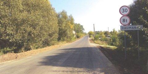 Daumantų kaime rekonstruota pagrindinė gatvė