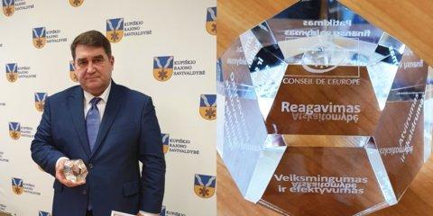 Kupiškio rajono savivaldybė apdovanota Europos Tarybos ženklu
