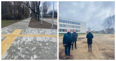 Marijampolė atsinaujina:  pasikeitė Draugystės gatvė, o Ryto pagrindinėje mokykloje bus įrengtas modernus aikštynas
