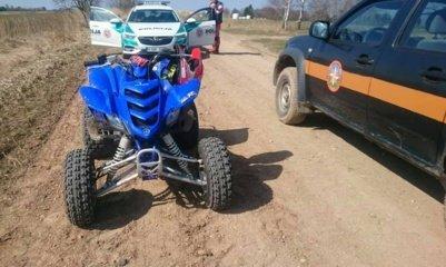 Utenos regione policija tikrino keturračius