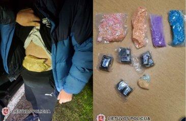 Sulaikyti Tauragės ir Šilutės gyventojai, gabenę narkotines medžiagas