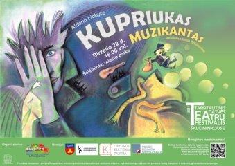 """Šalčininkų miesto parke – spektaklis vaikams """"Kupriukas muzikantas"""""""