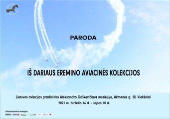 Paroda iš Dariaus Ereminos aviacinės kolekcijos
