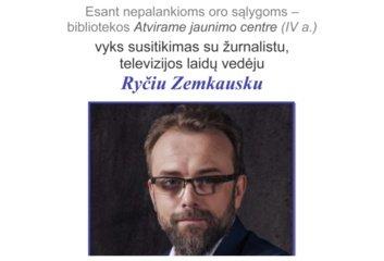 Pasvalio Mariaus Katiliškio bibliotekoje – susitikimas su žurnalistu Ryčiu Zemkausku
