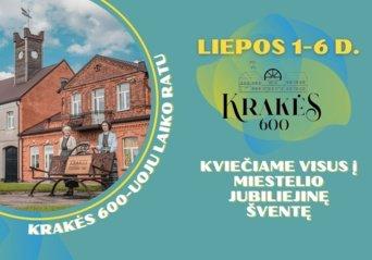 Krakių miestelis 600-ąjį jubiliejų švęs šešias dienas
