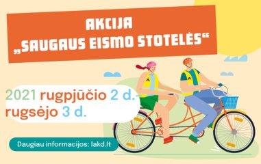 Saugaus eismo stotelės pradeda kelionę po Lietuvos miestus ir miestelius