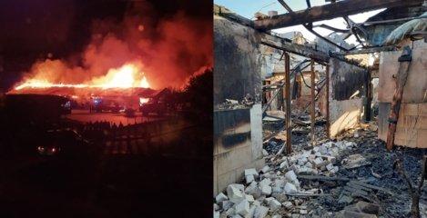 """Ugnis pasiglemžė """"Jurbarkų mėsa"""" pastatus"""